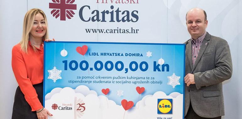 Lidl Hrvatska donirao 100 tisuća kuna za stipendije i crkvene pučke kuhinje