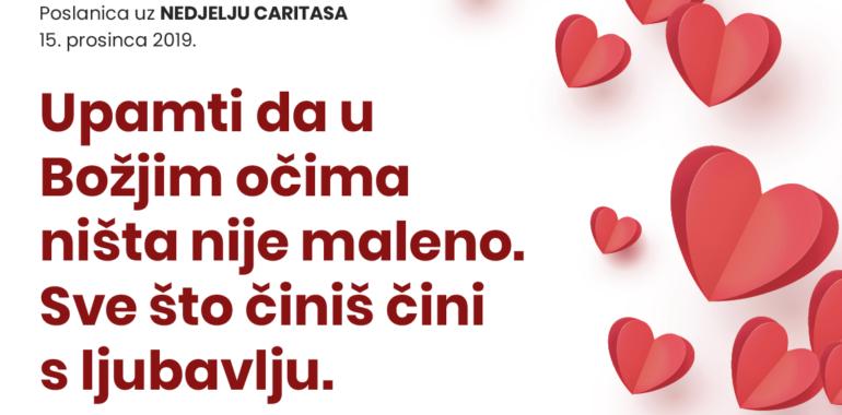 Poslanica biskupa Josipa Mrzljaka za Nedjelju Caritasa 15. prosinca 2019.