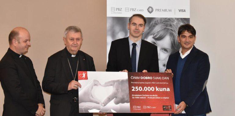 PBZ Grupa donirala 250.000 kuna programu  Hrvatskog Caritasa Za 1000 radosti  – Probudi dobro u svijetu!