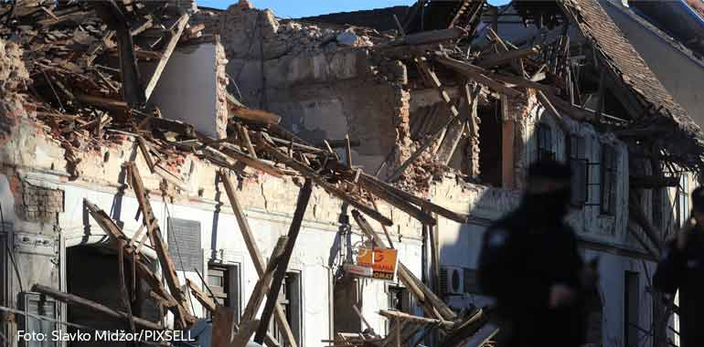 Caritas Croatia helps the victims of the earthquake in Petrinja, Sisak and Glina