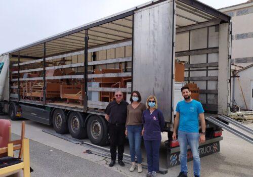 Donacija bolničkih kreveta i namještaja iz Belgije